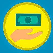 Normal money icon dollar giving